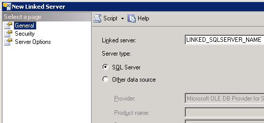 General->choose SQL Server option