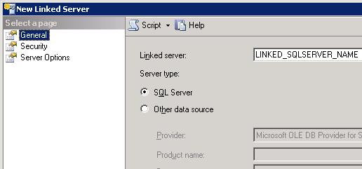 General->choose SQL Server option