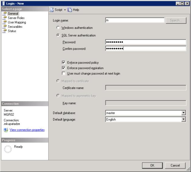 Login_New(SQL Server 2005)