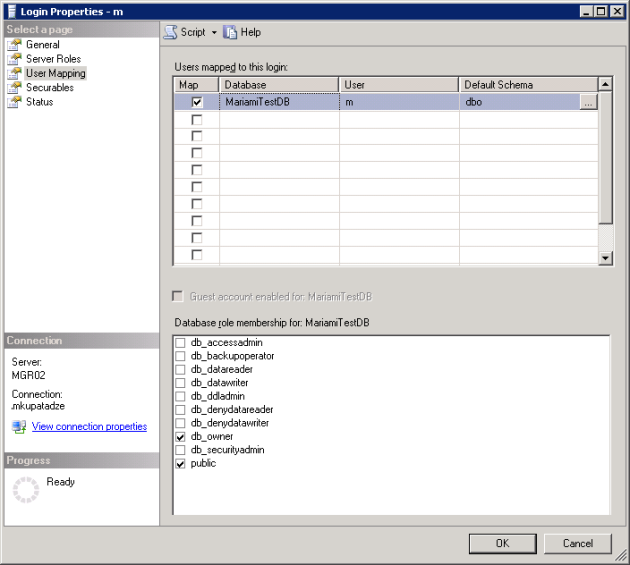Login_Properties_User_Mapping(SQL Server 2005)