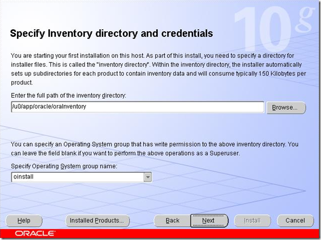 Specify Inventory Directory and Credentials