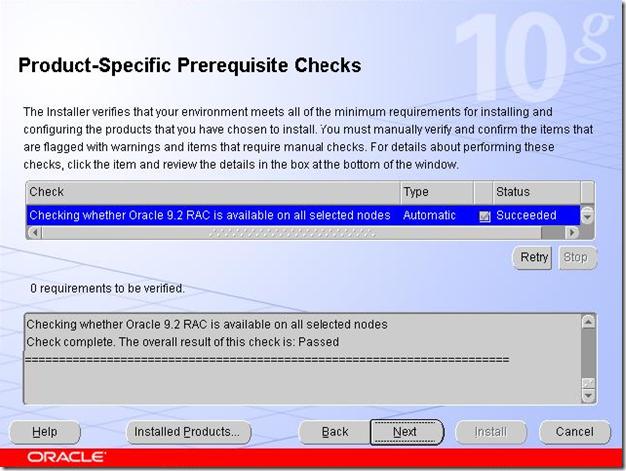 Product-Specific Prerequisite Checks