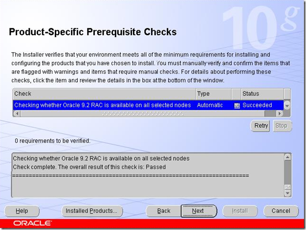 Product-Specific Prerequisite Checks
