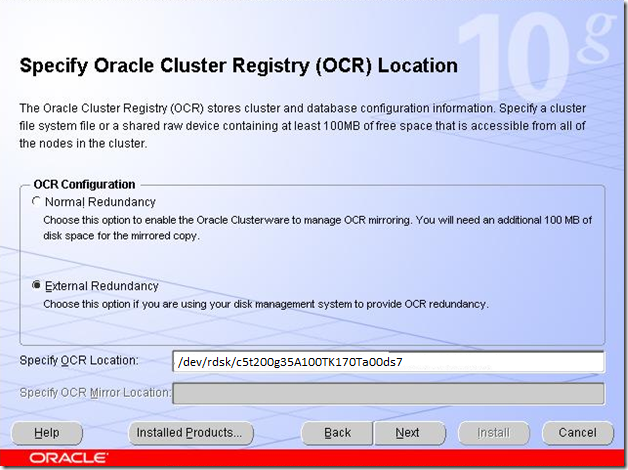 Specify OCR Location