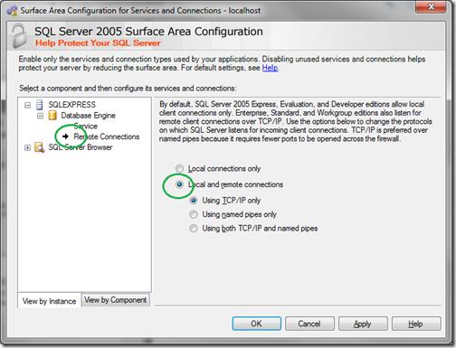 Microsoft SQL Server 2005 Surface Area Configuration