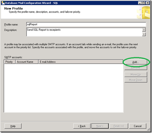 SQL Server  Database Mail Configuration Wizard_New_profile