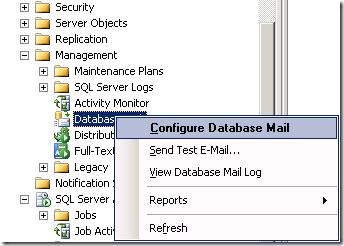 SQL Server Configure Database Mail