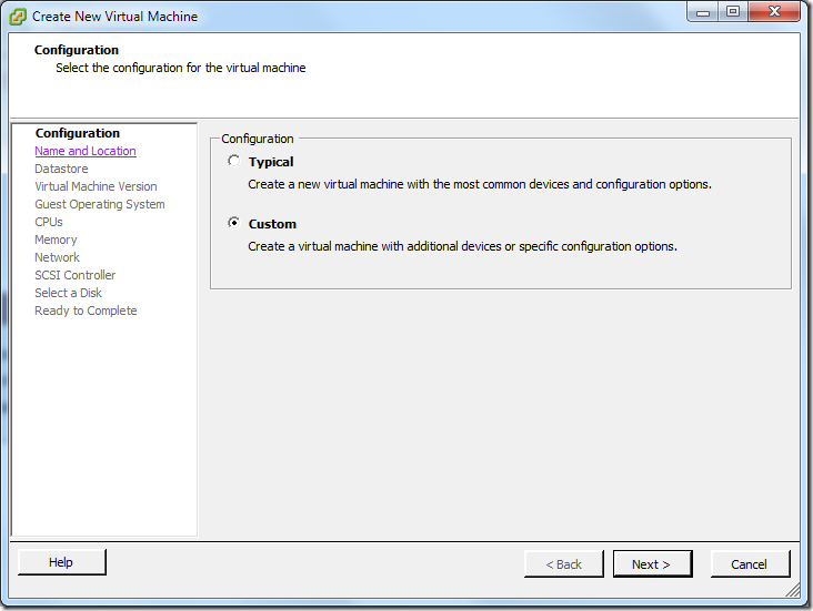 Create New Virtual Machine_Custom