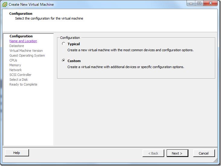 Create New Virtual Machine_Custom