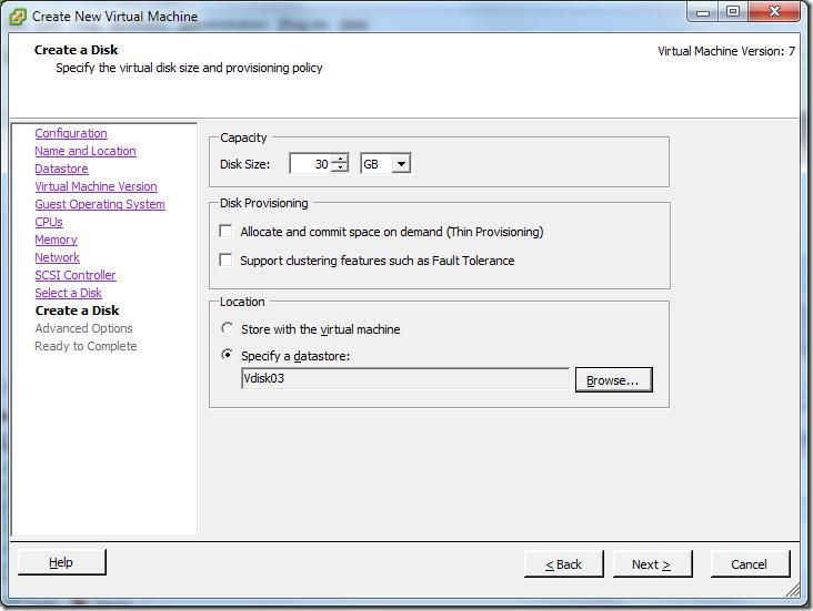 Create New Virtual Machine_Disk_Capacity