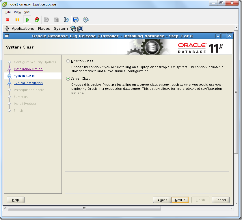 Virtual Machine_Oracle_Database_Installation_Server_Class