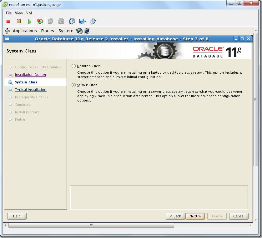 Virtual Machine_Oracle_Database_Installation_Server_Class