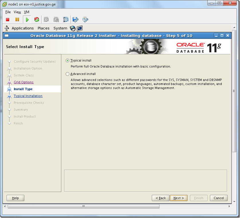 Virtual Machine_Oracle_Database_Installation_Typical