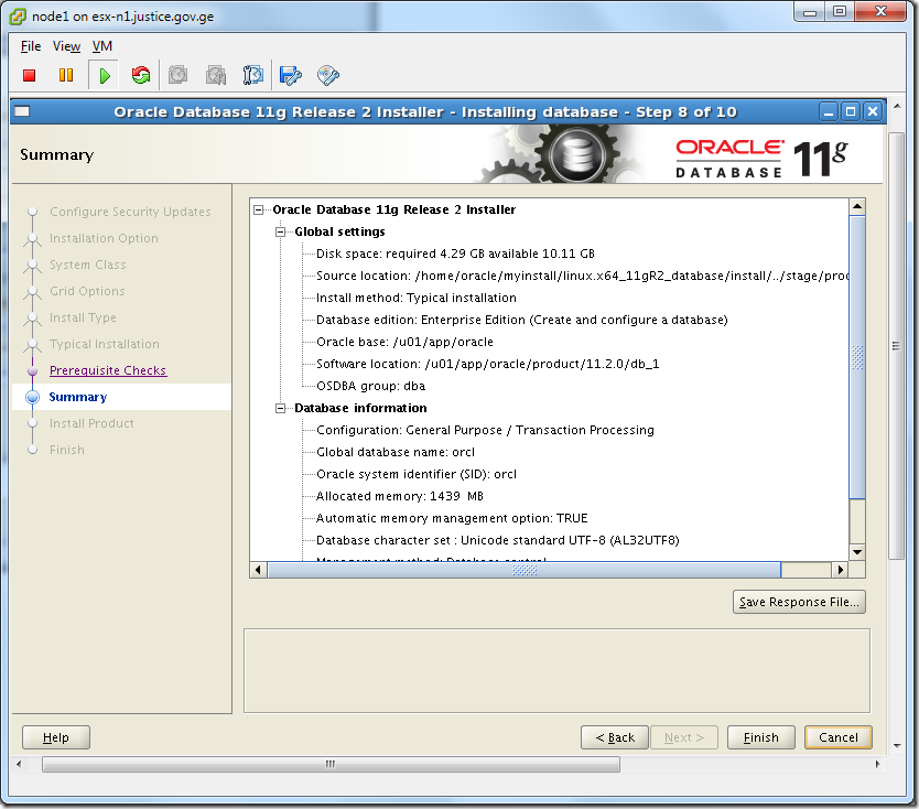 Virtual Machine_Oracle_Database_Installation_Summary