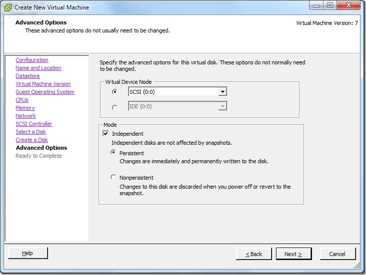 Create New Virtual Machine_Virtual_Device_node