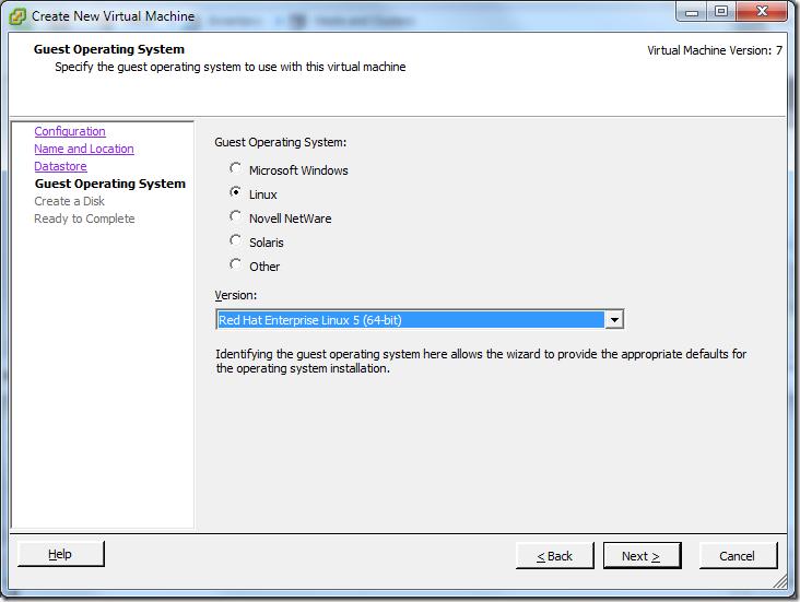 Create New Virtual Machine_OS