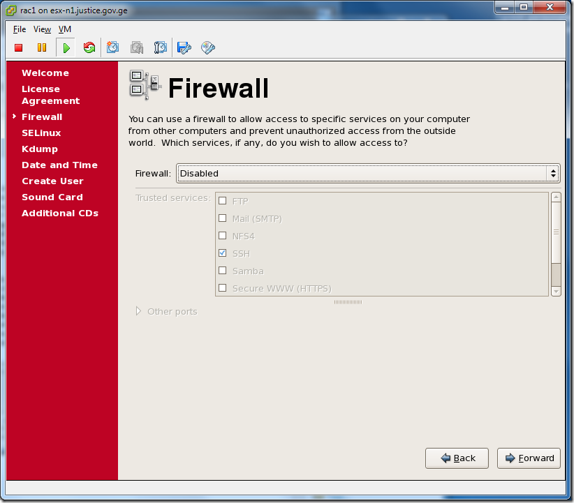 Virtual Machine_Enterprise_Linux_Setup_Firewall