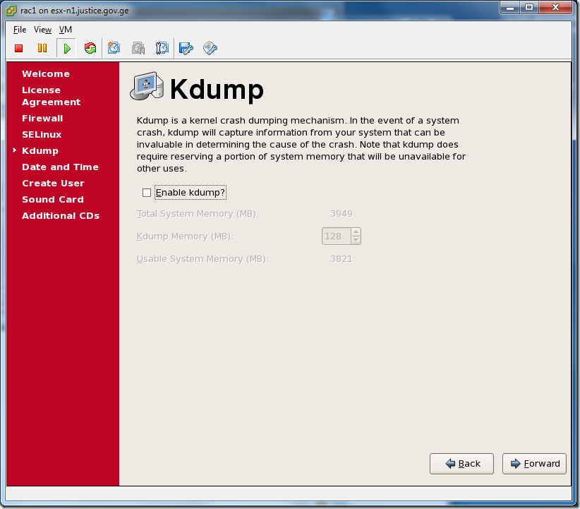 Virtual Machine_Enterprise_Linux_Setup_Kdump