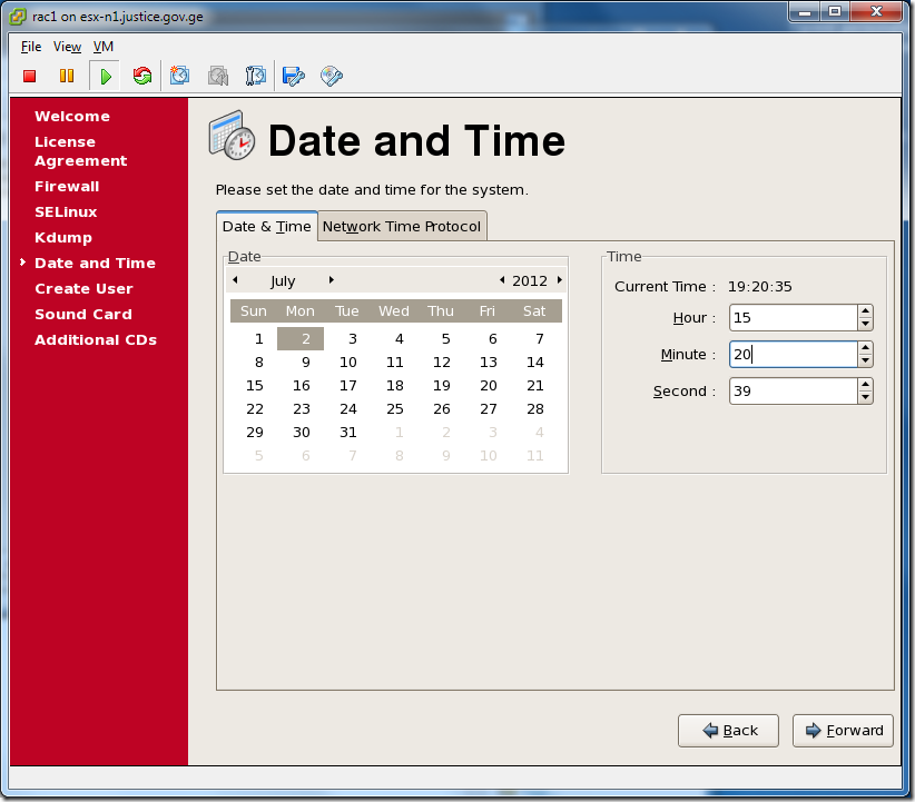 Virtual Machine_Enterprise_Linux_Setup_Date_and_Time