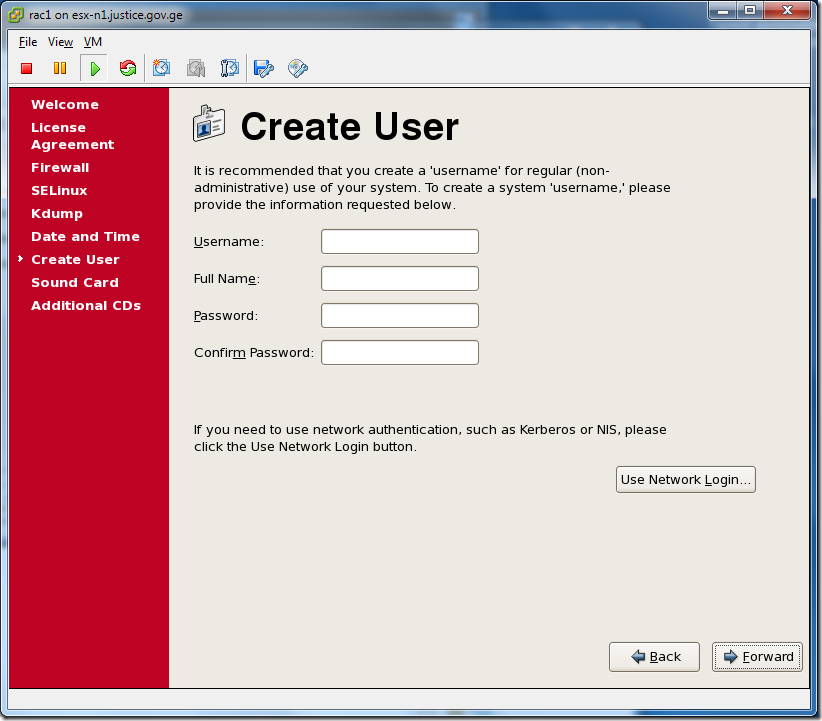 Virtual Machine_Enterprise_Linux_Setup_Create_user