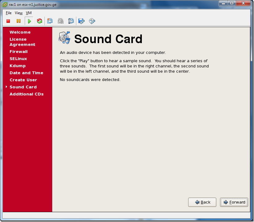 Virtual Machine_Enterprise_Linux_Setup_Sound_Card