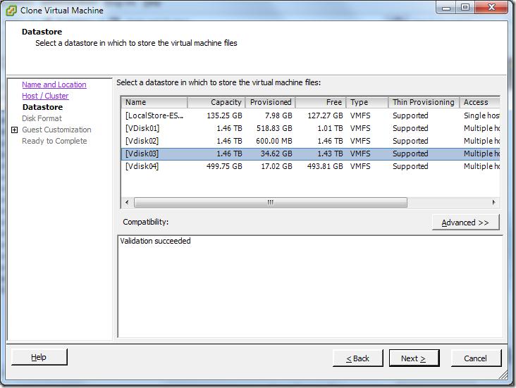 Clone Virtual Machine_Datastore