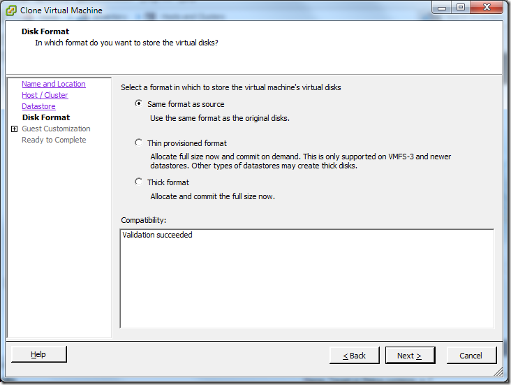 Clone Virtual Machine_Disk_Format