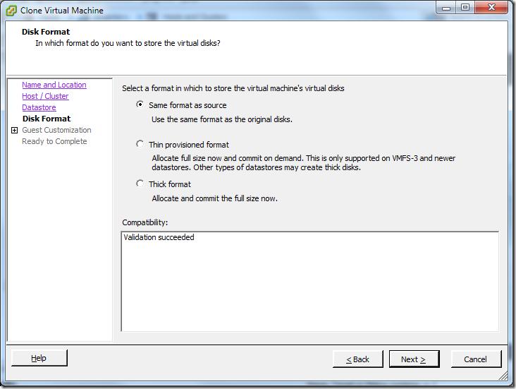 Clone Virtual Machine_Disk_Format