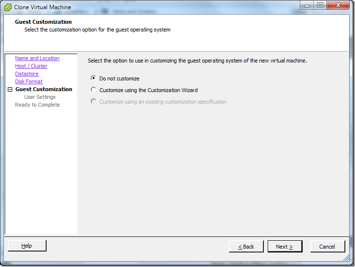 Clone Virtual Machine_Guest_Customization