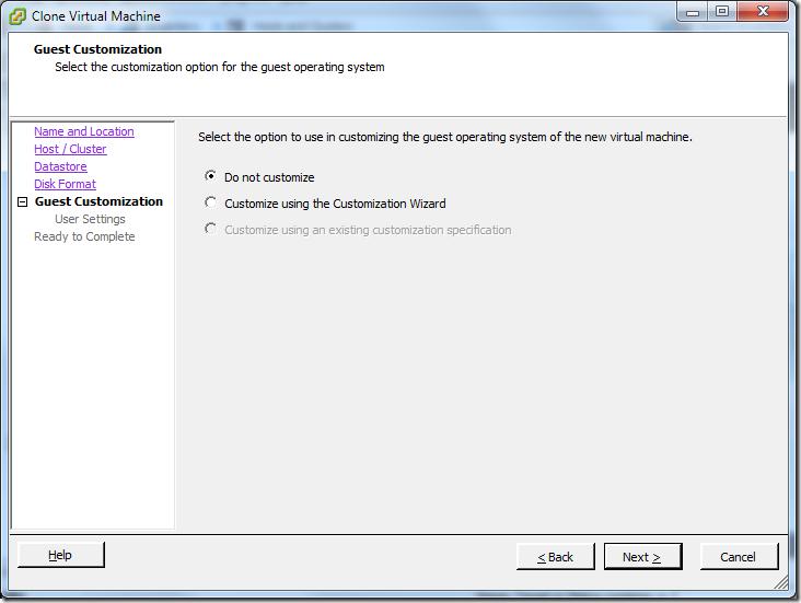 Clone Virtual Machine_Guest_Customization
