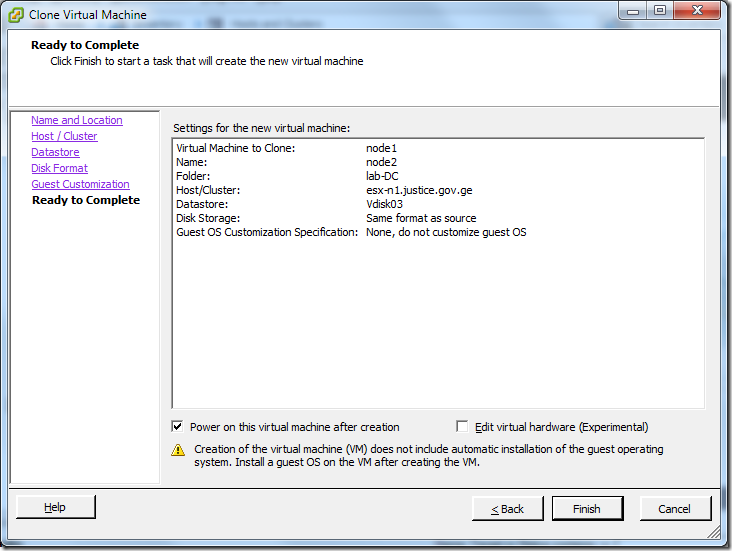 Clone Virtual Machine_Ready_to_Complete