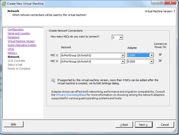 Create New Virtual Machine_NIC