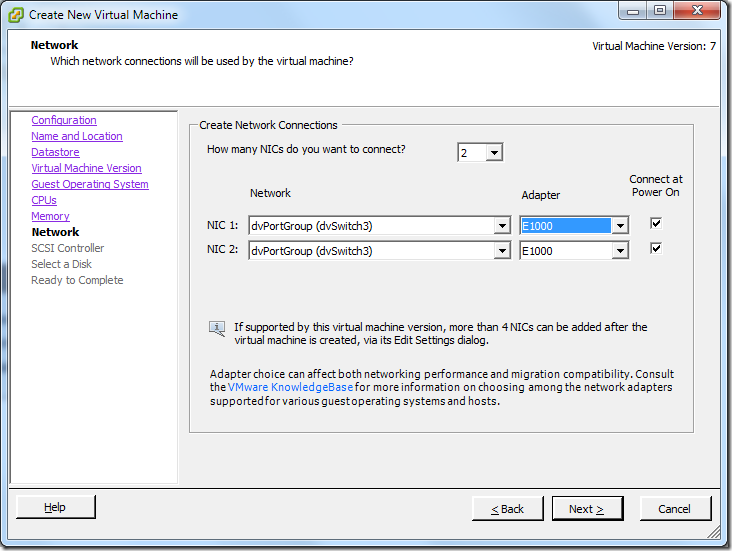 Create New Virtual Machine_NIC