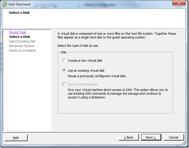Virtual Machine_Add_Hard_Disk_Existing