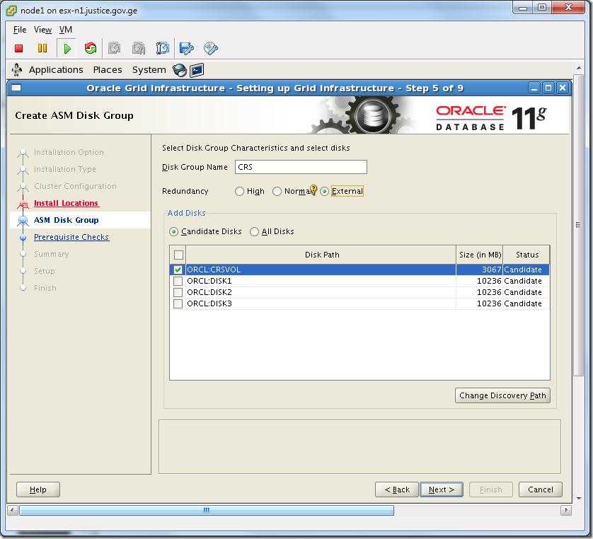 Virtual Machine_Grid_Installation_ASM_Diskgroup