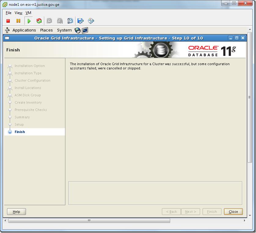 Virtual Machine_Grid_Installation_Finish