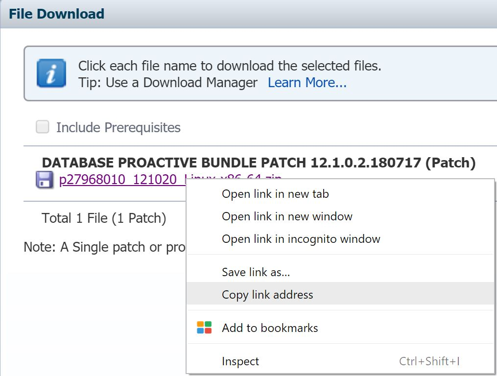 Downloading Oracle files on Linux via wget | DBA-010